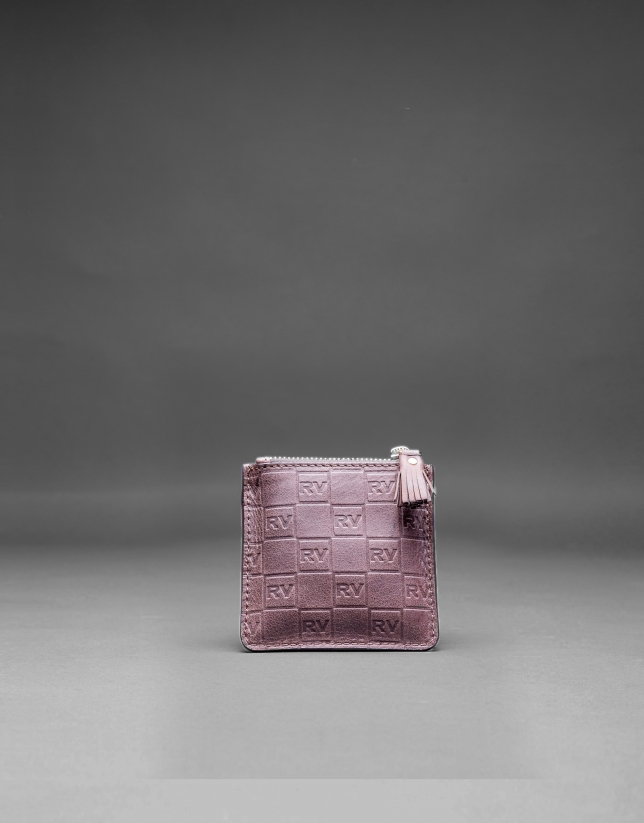 Brown change purse with embossed RV