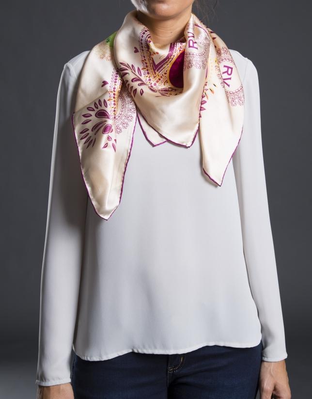 Fantasy print scarf