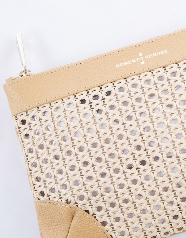 Zoe Mix : clutch couleur sable