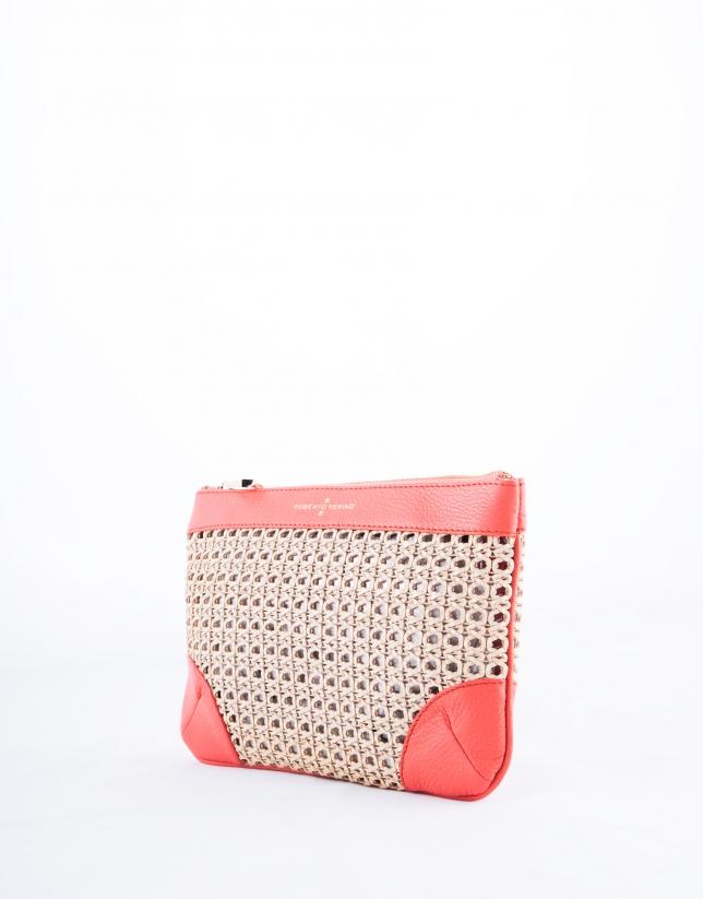 Coral Zoe Mix clutch bag