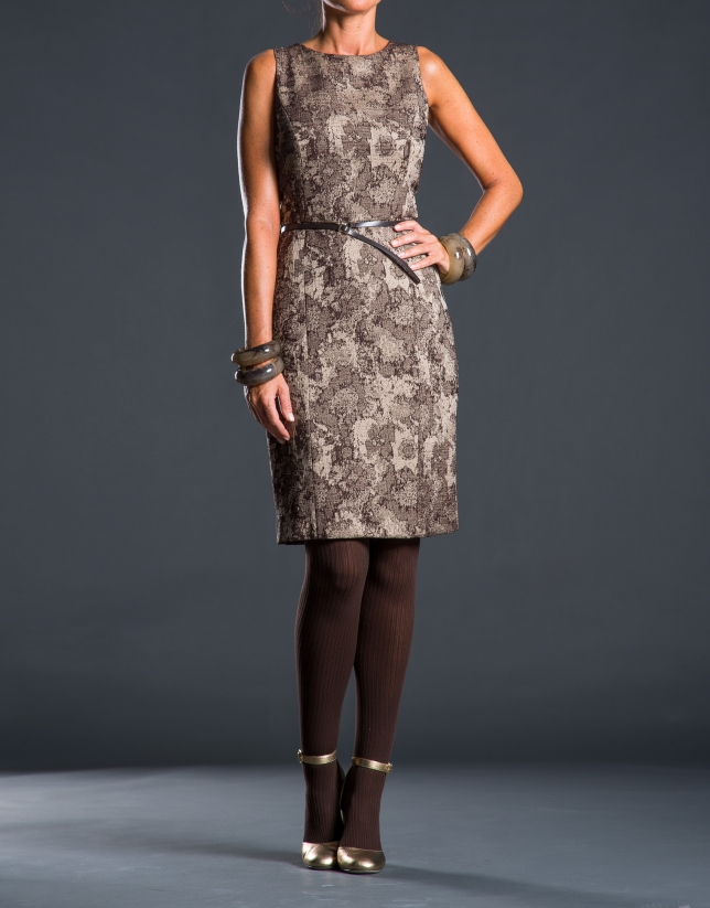 Toast jacquard dress