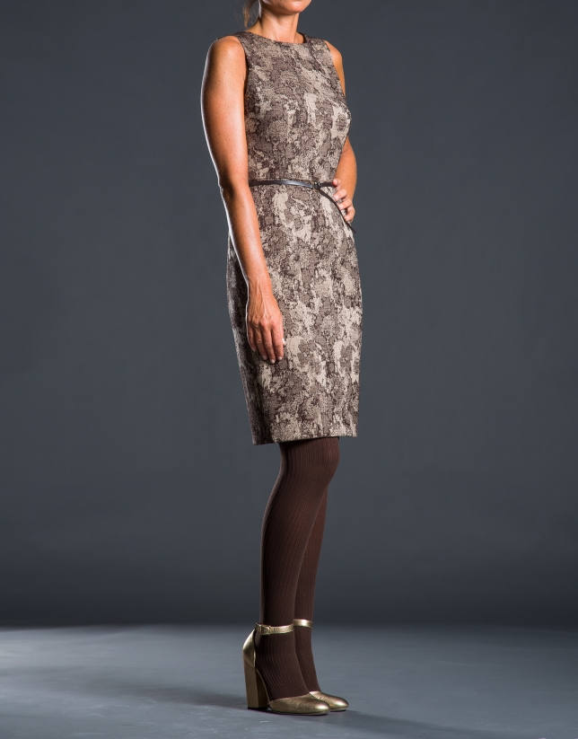 Toast jacquard dress