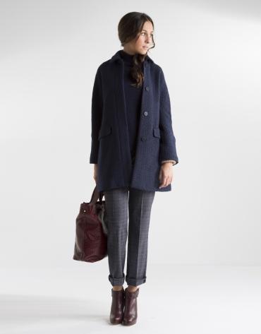Abrigo corto azul