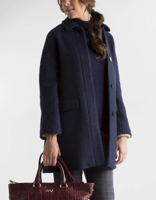 Short blue coat