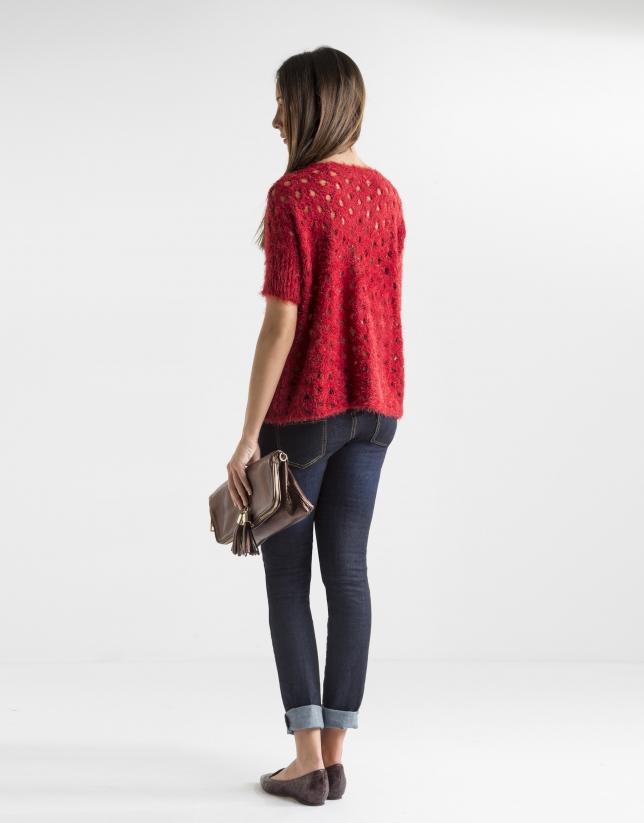 Jersey calado rojo