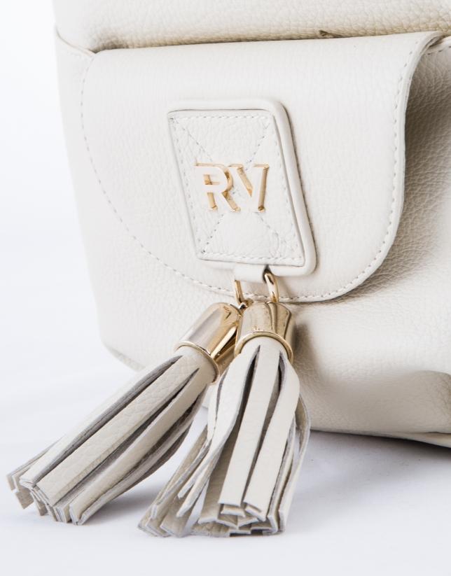 Beige leather  Petra hobo bag