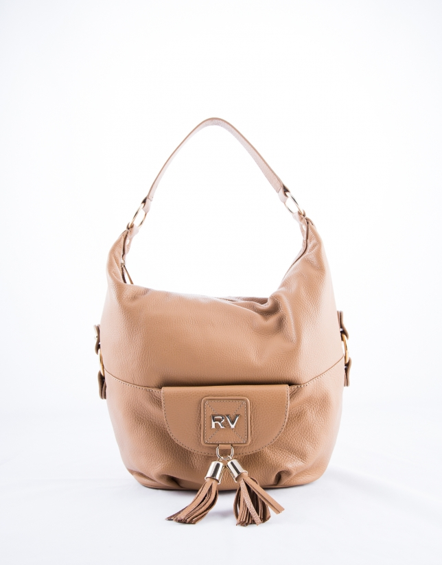 Camel leather Petra hobo bag