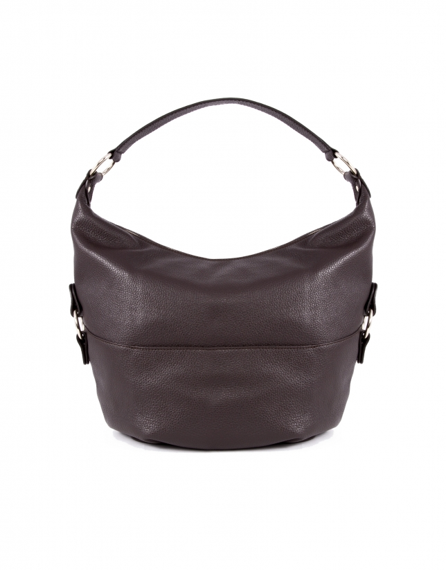 Petra dark brown leather bag