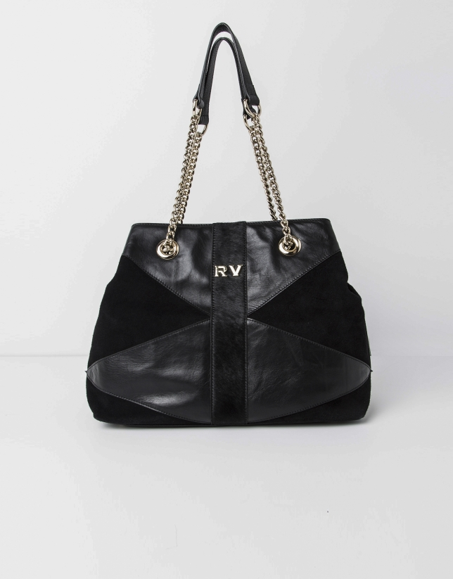 Patchwork shopping bag