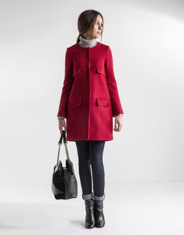 Short red coat