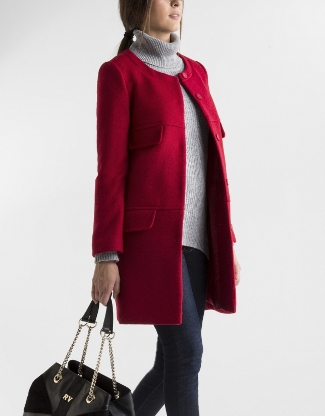 Manteau court rouge