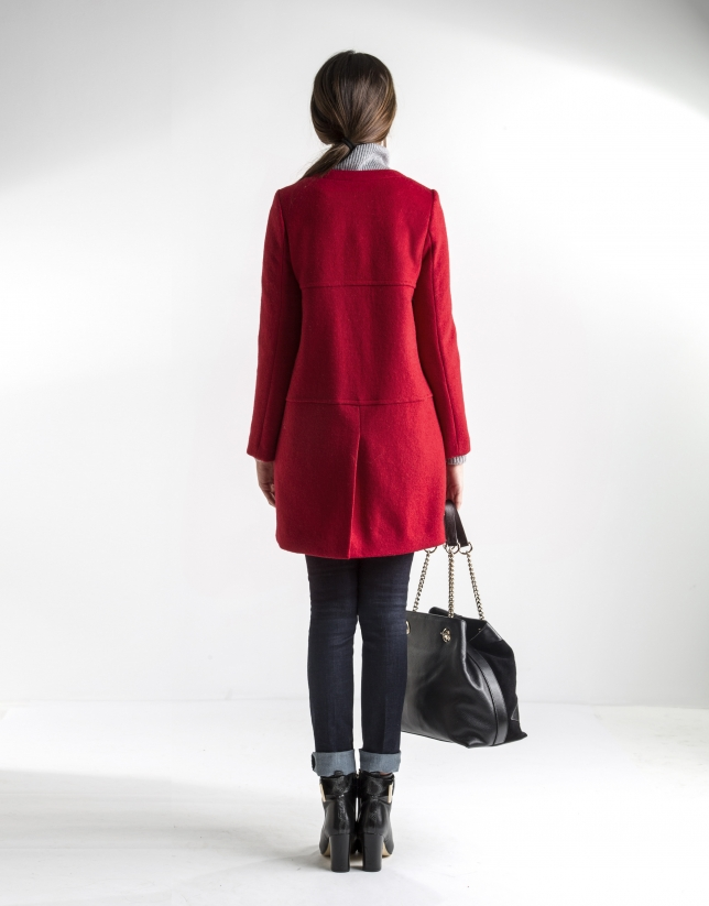 Short red coat - Coats and Jackets - Woman | Roberto Verino