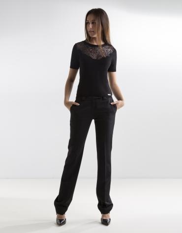 Jersey encaje negro