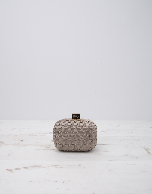 Beige Cova clutch bag