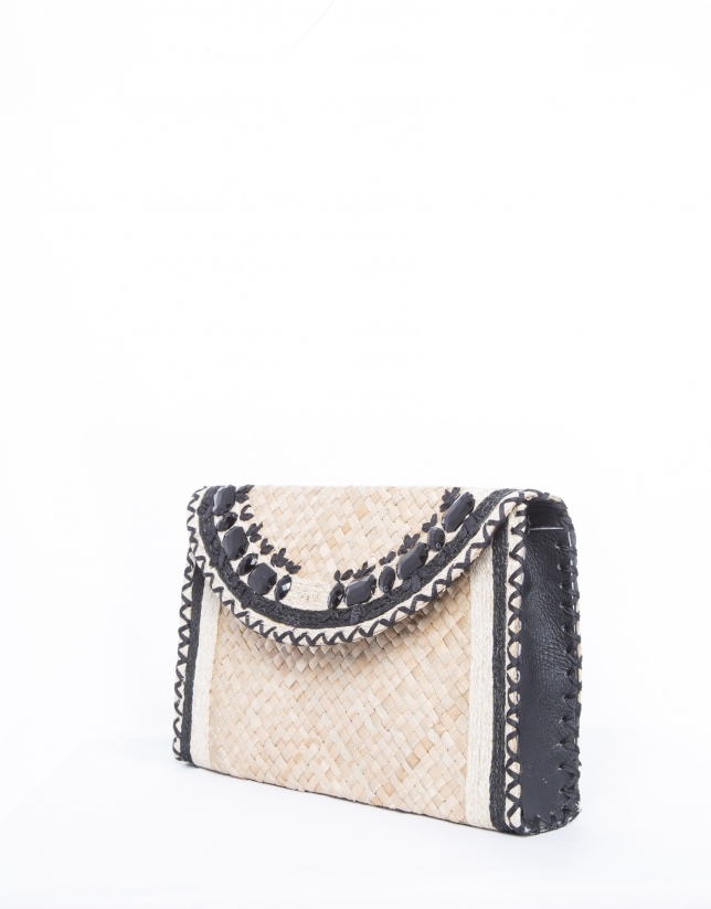 Bolso Clutch Claudia rafia natural