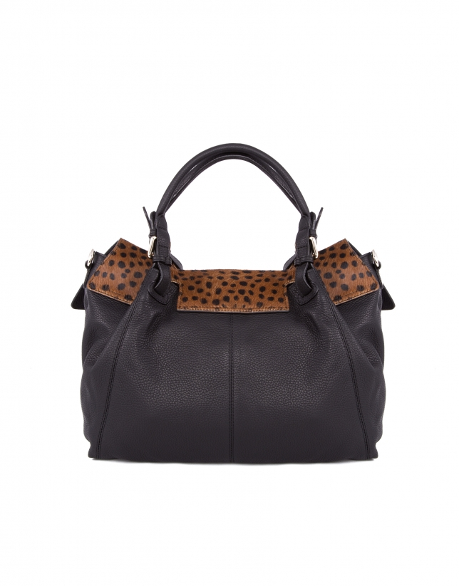 Bolso Satchel Julia Dots animal print