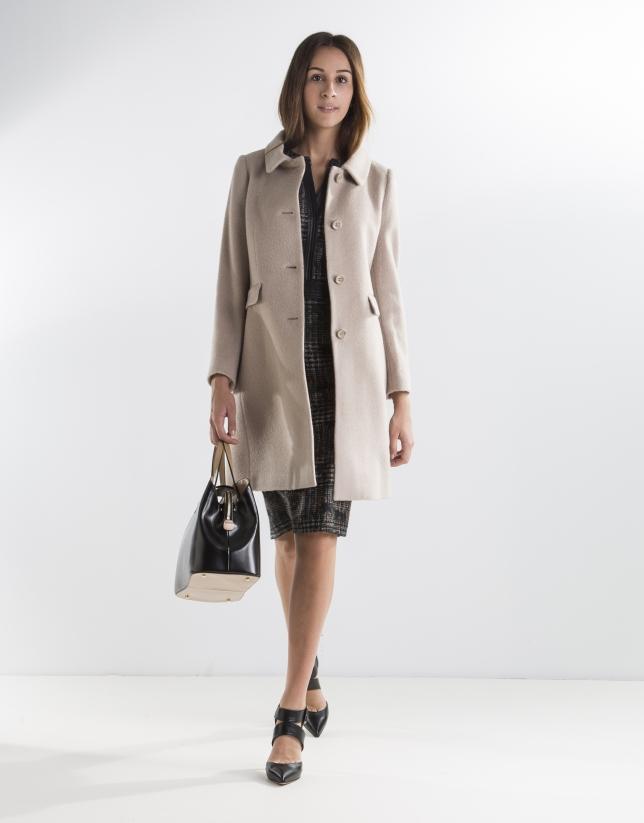 Short beige coat