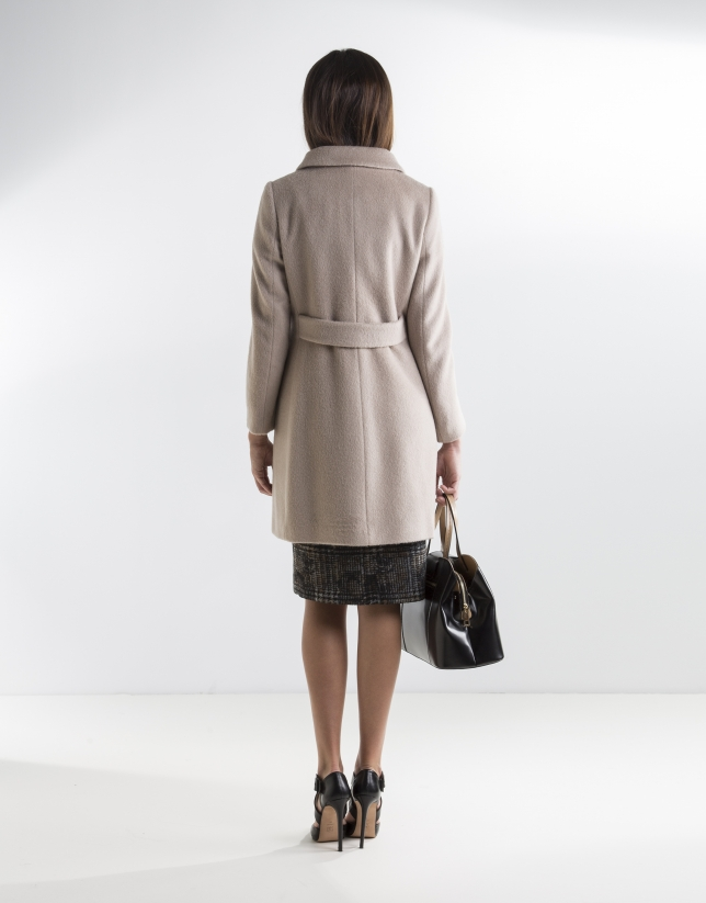 Short beige coat