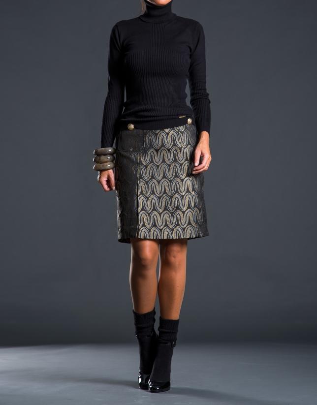Fine knit black sweater