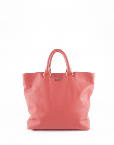 Coral leather Loles tote bag