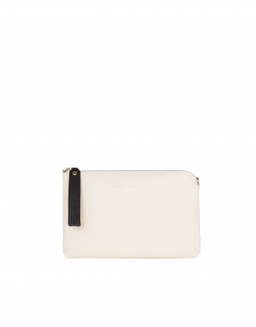 Sac Clutch en cuir Saffiano color block