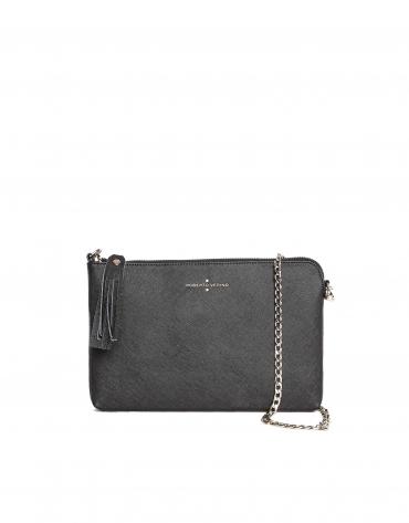 Black Saffiano leather clutch bag