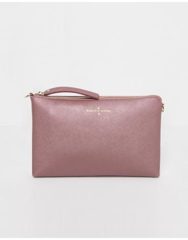 Plain pink messenger bag