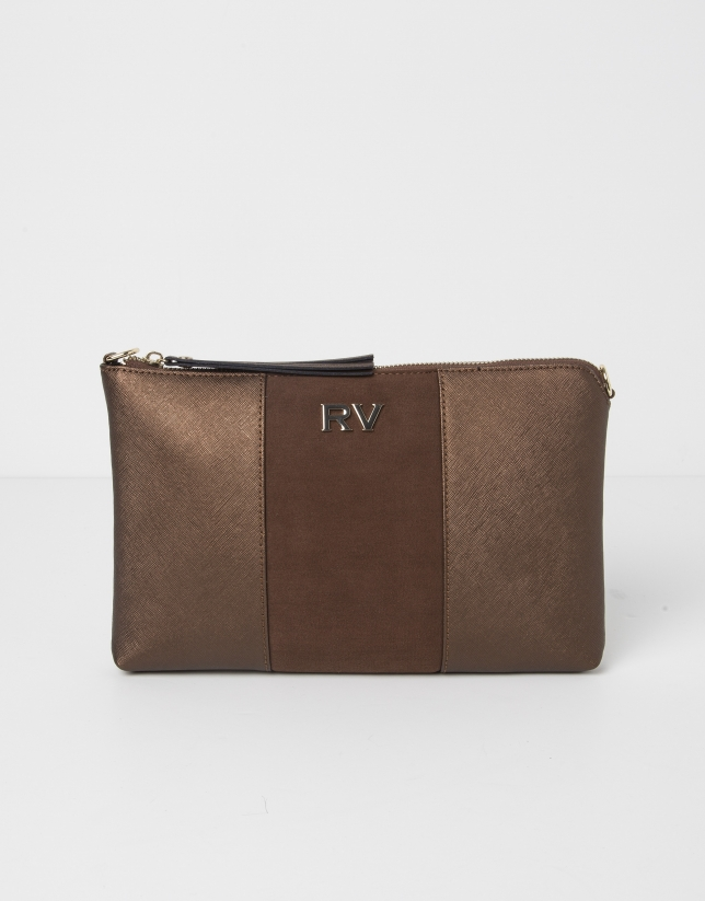 Combination brown messenger bag