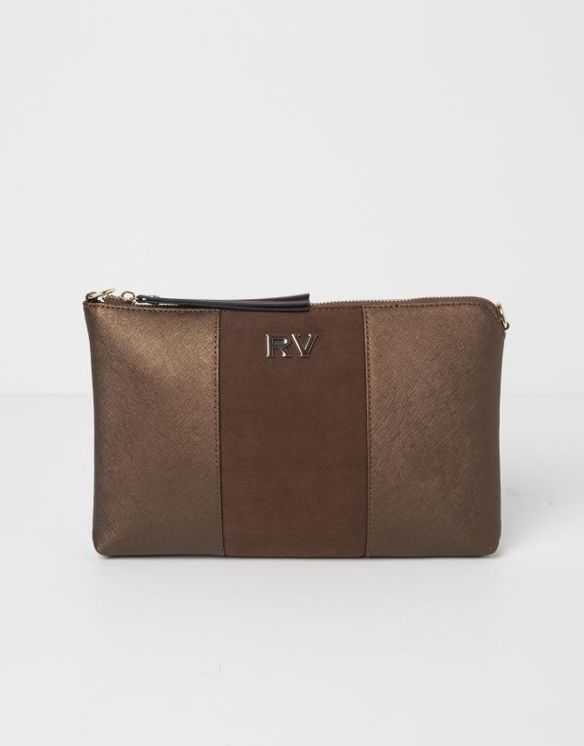 Combination brown messenger bag