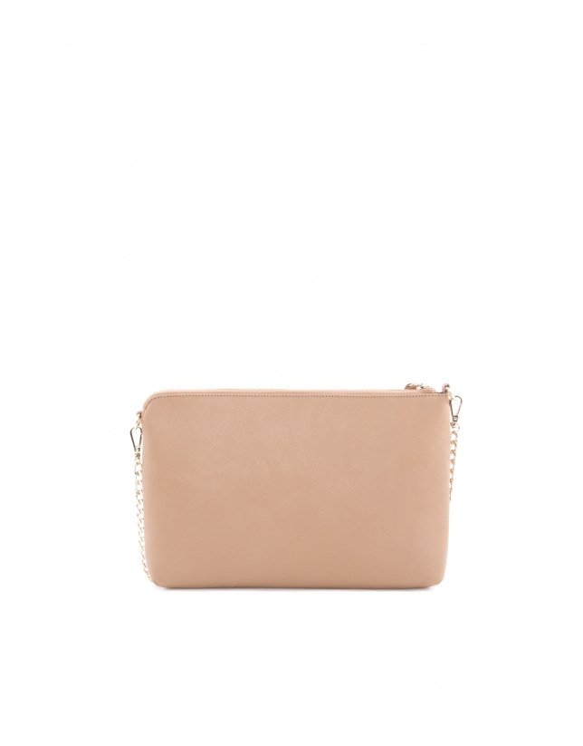 Lisa camel Saffiano leather bag