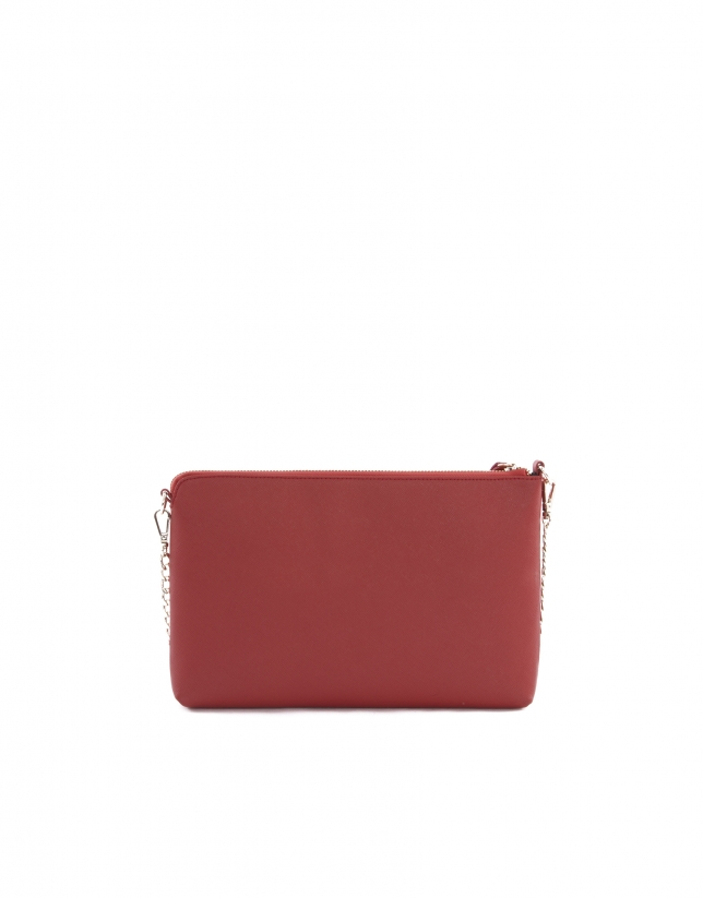 Lisa red Saffiano leather bag