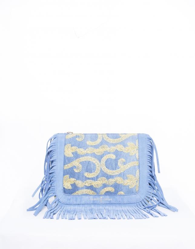 Sara Capri : sac bandoulière bleu