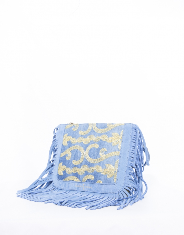Blue Sara Capri shoulder bag