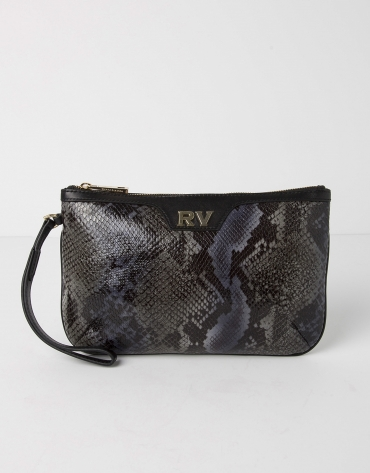 Cowhide leather clutch
