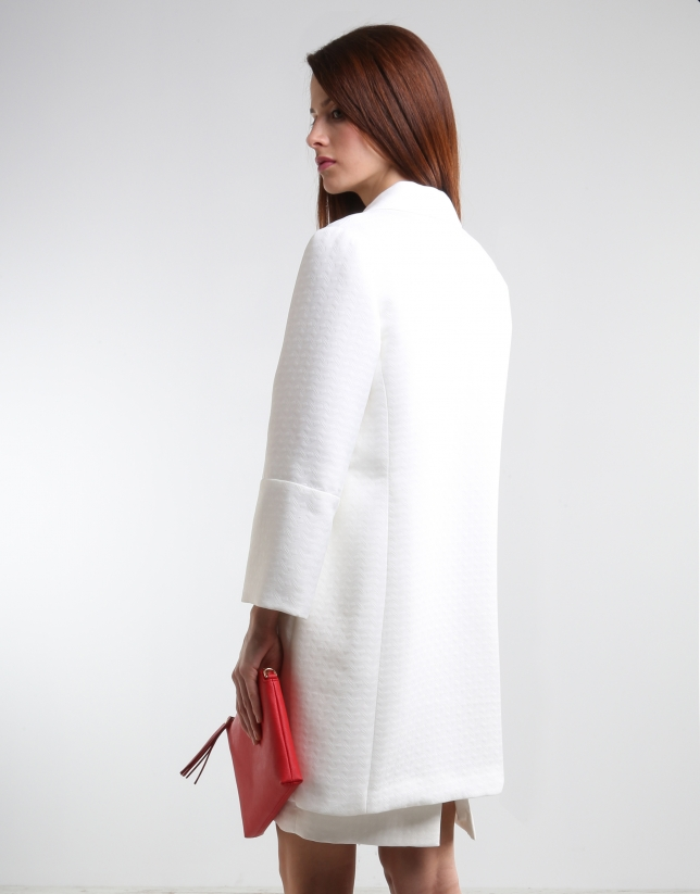 Abrigo corto crudo