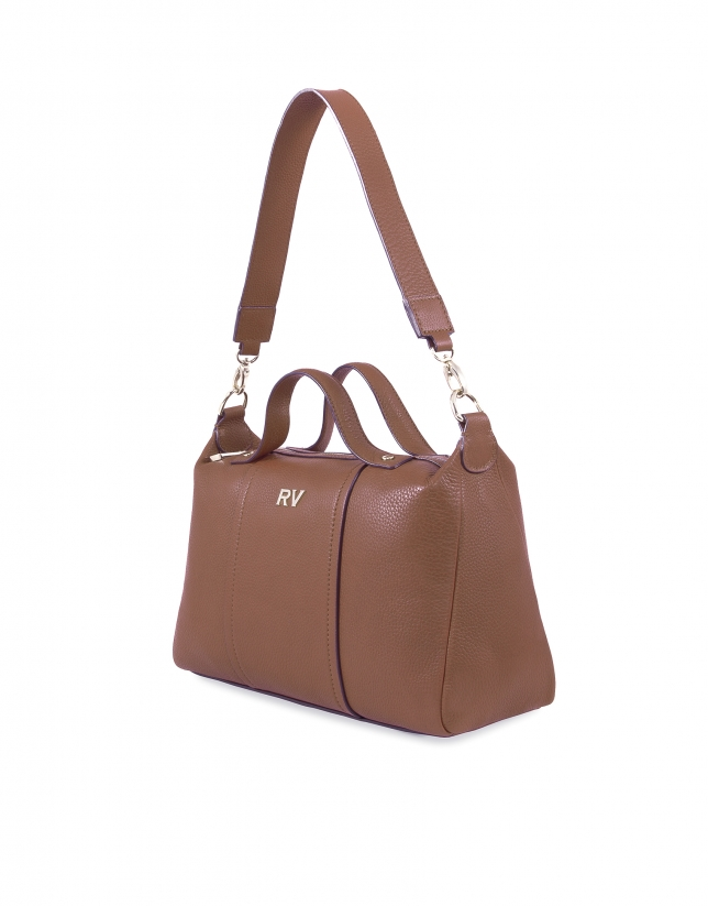 Samuel tobacco leather bag