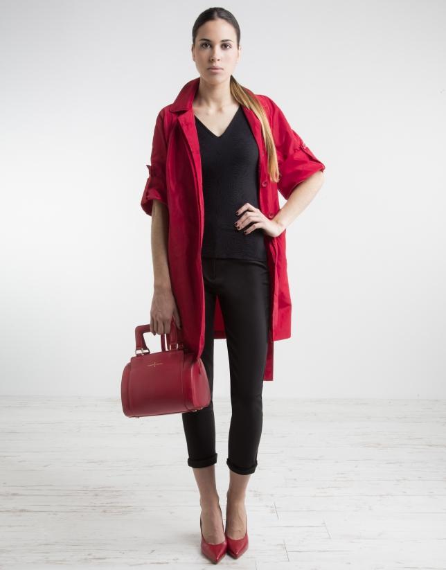 trench rouge trenchs et vestes femme roberto verino. Black Bedroom Furniture Sets. Home Design Ideas