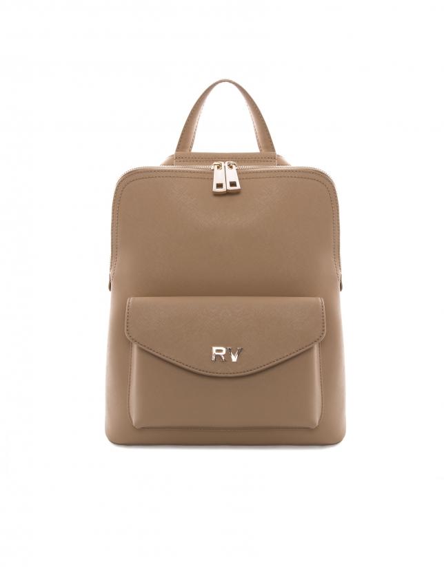 Audry beige Saffiano leather bag