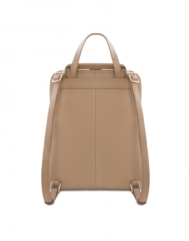 Audry beige Saffiano leather bag