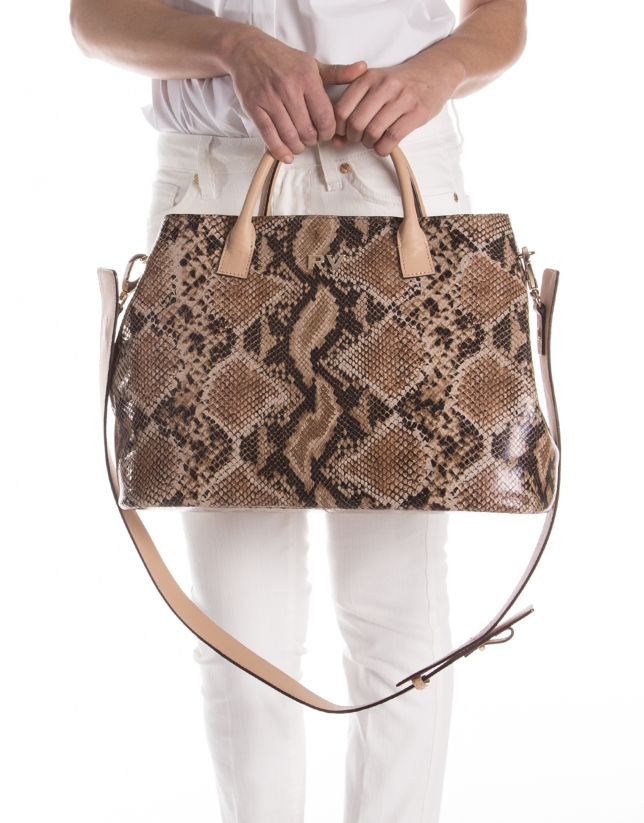 Python print leather satchel