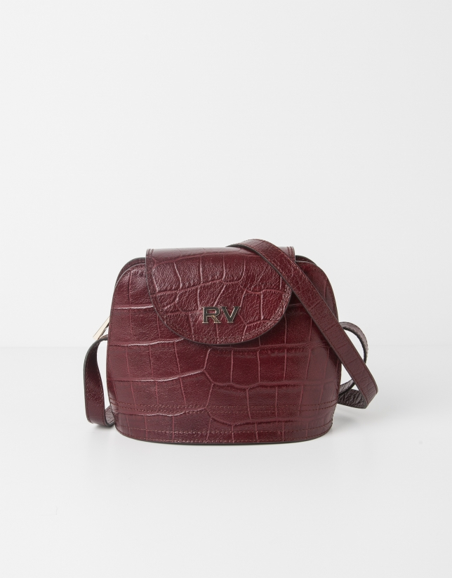 Scarlet leather shoulder bag