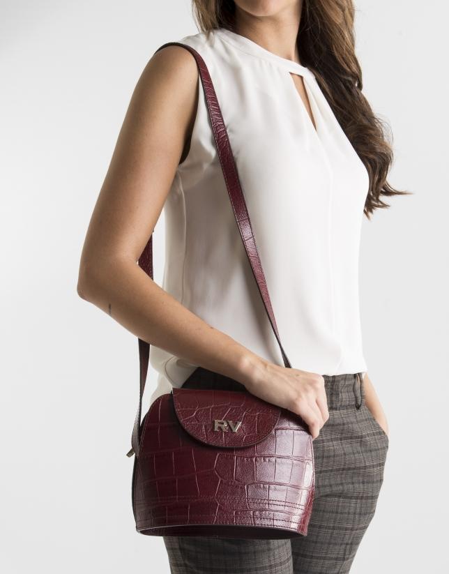 Scarlet leather shoulder bag
