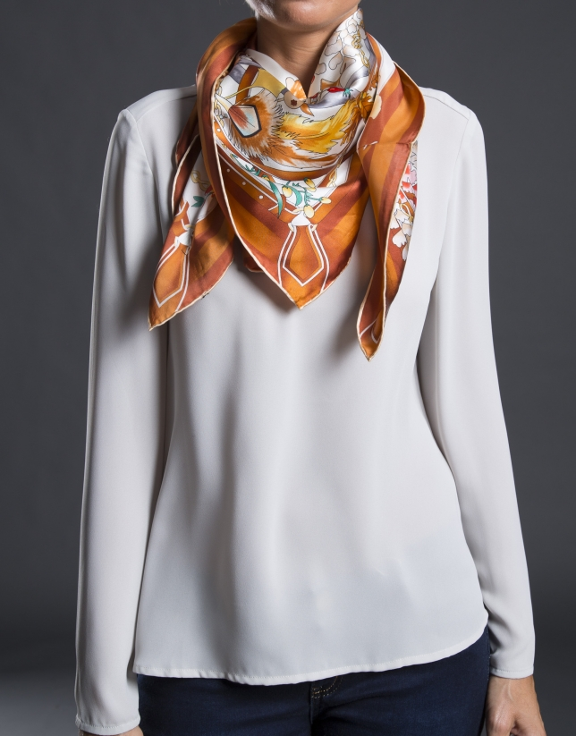 Wild print scarf