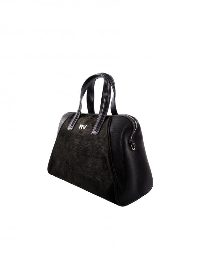 Mar black bag with brown fur