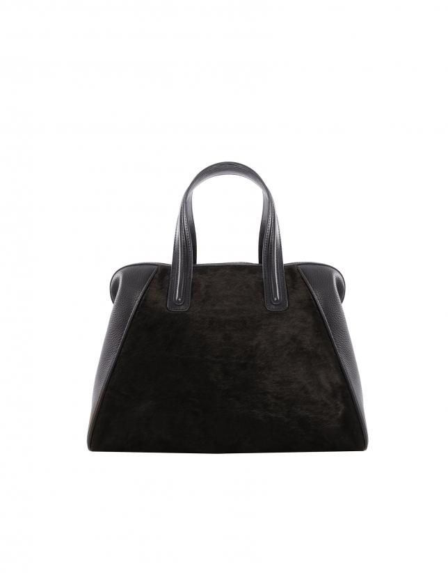Bolso Shopping Mar negro marrón