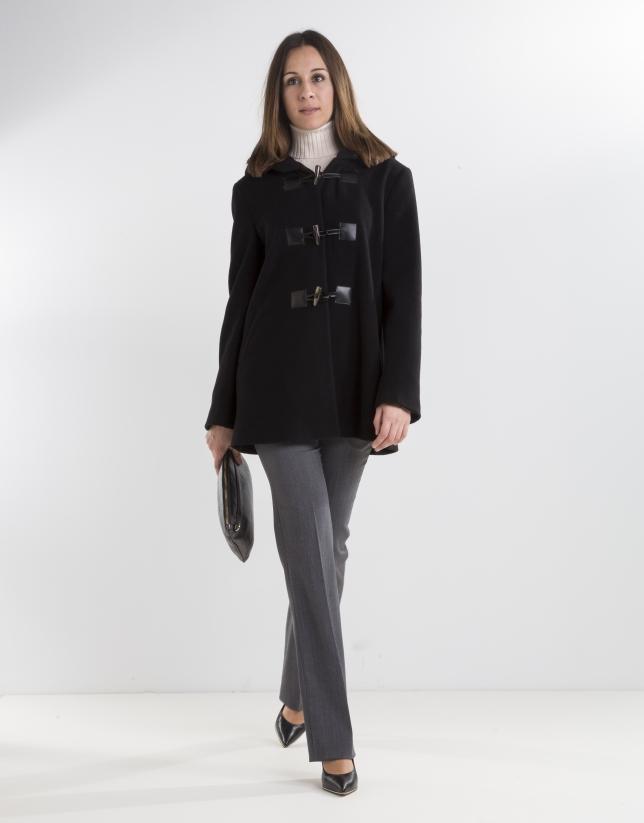 Trenca lana cashmire negra