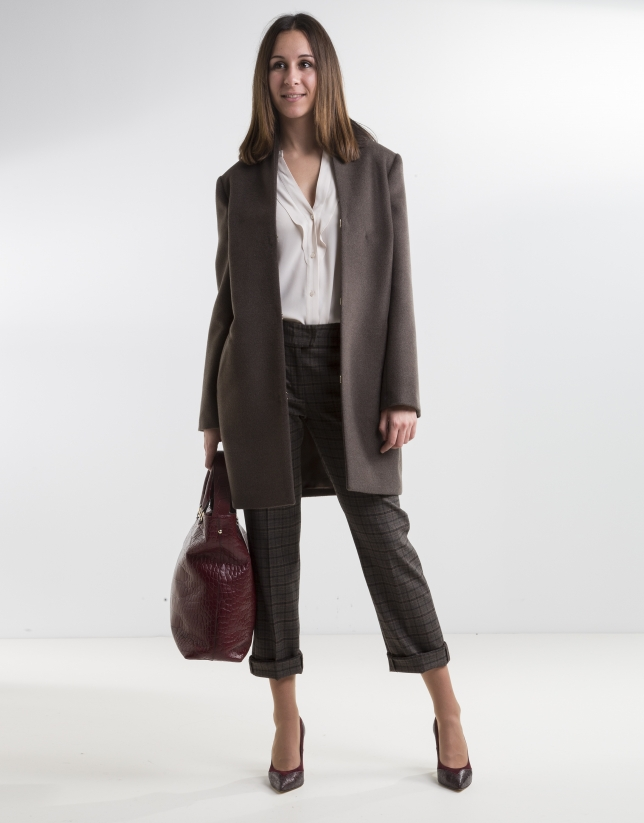 Dark brown coat
