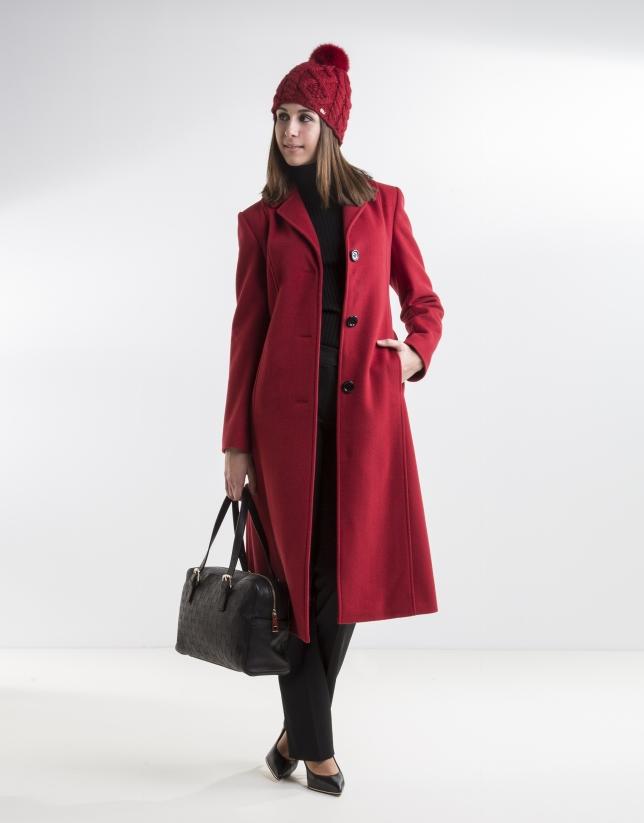 Manteau structuré rouge
