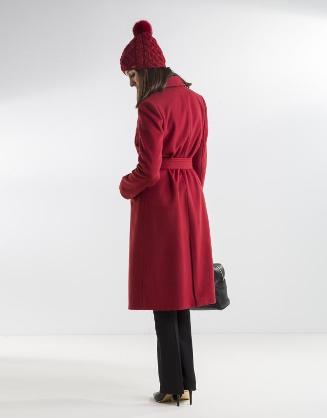 Abrigo estructura rojo