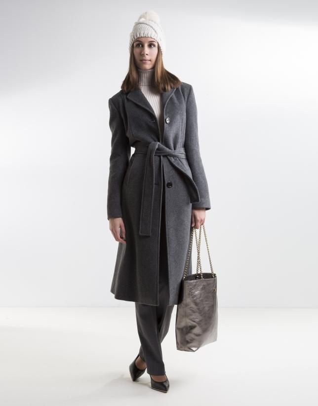 Manteau structuré gris